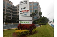 LH26766 - Infinity Insurance - Routed Illuminated Monument Sign Panel